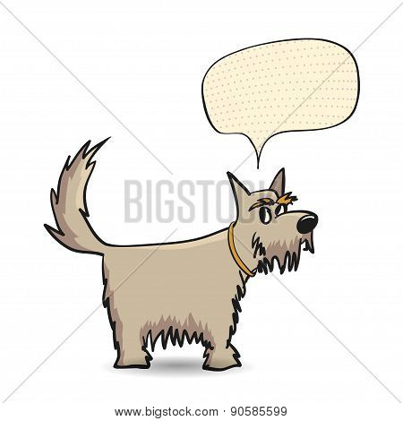 Funny Dog With Speech Bubble.
