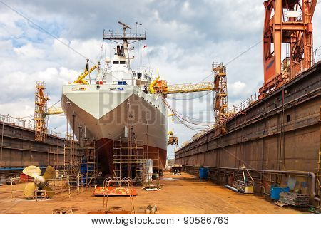 Ship In Dry Dock