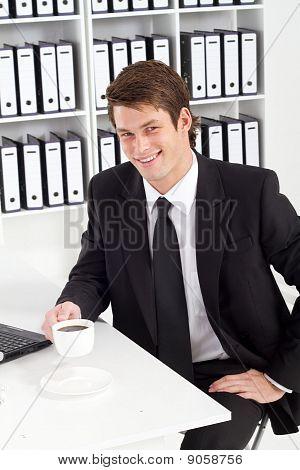 businessman on coffee break