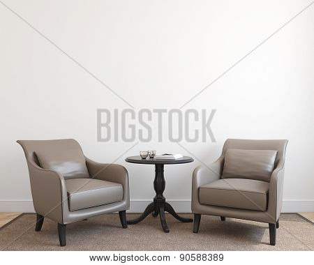 Interior With Two Armchairs.