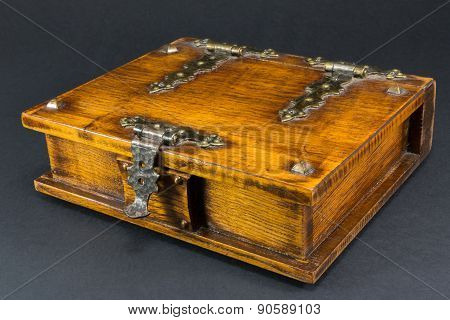 Wooden Casket, Brown Box With Nail