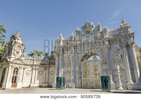 Gate Of The Sultan, Dolmabahce Palace, Istanbul, Turkey