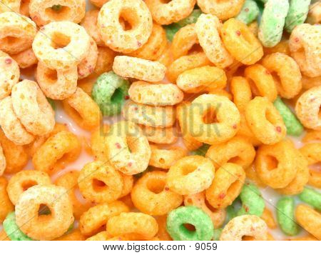 Cereal Loops In Milk