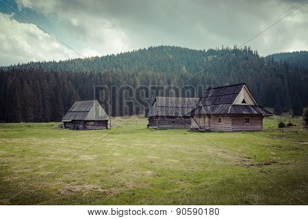 Wooden Hut In Chocholowska Valley, Tatra Mountains, Poland