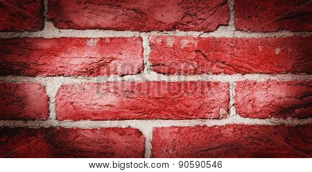 Texture Of The Old Red Brick Wall