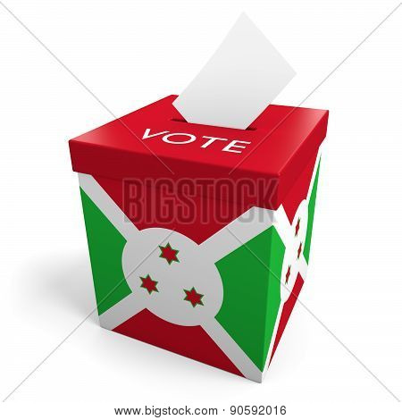 Burundi election ballot box for collecting votes