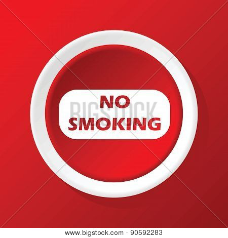 No smoking icon on red