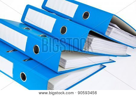 file folder with documents and documents. storage contracts.