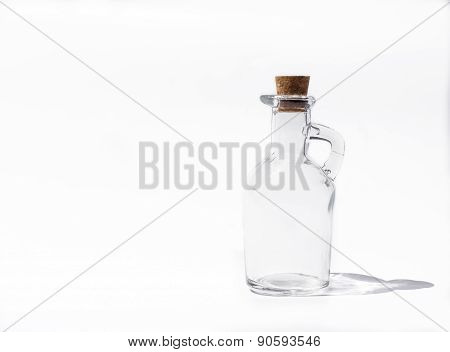 Empty Bottle With Bottleneck