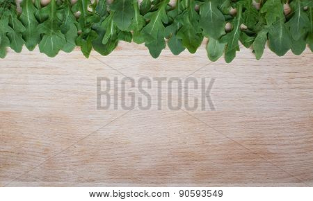 Rocket On The Wooden Background