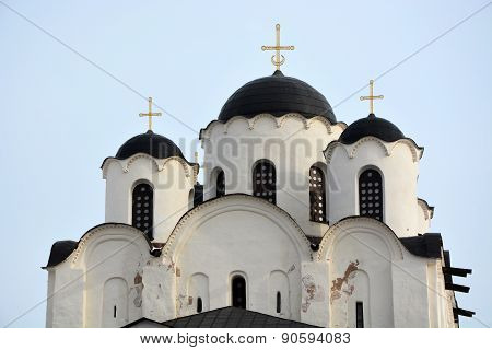 Ancient St Nicholas Cathedral In Veliky Novgorod