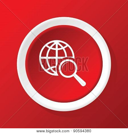 Global search icon on red