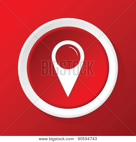 Map pointer icon on red