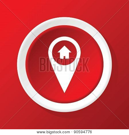 House pointer icon on red