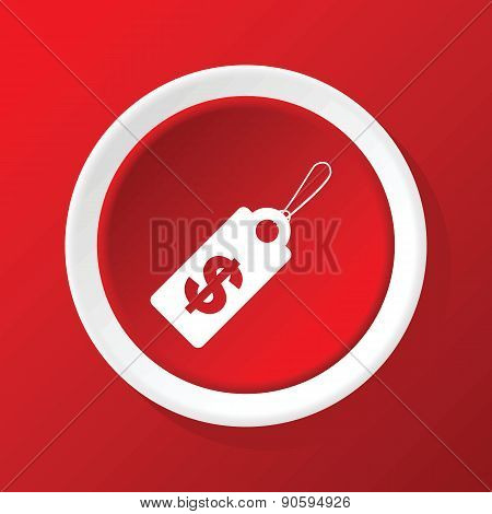 Dollar price icon on red