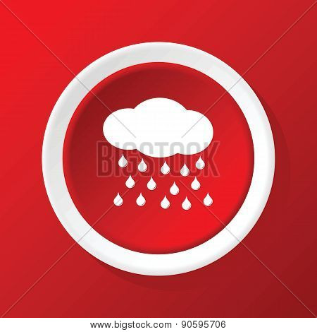 Raining icon on red