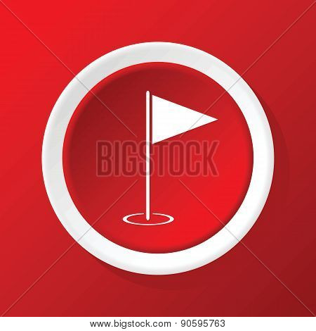 Flagstick icon on red