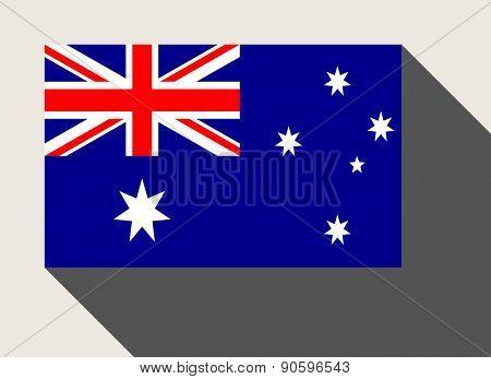 Australia flag in flat web design style.