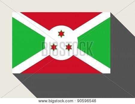 Burundi flag in flat web design style.