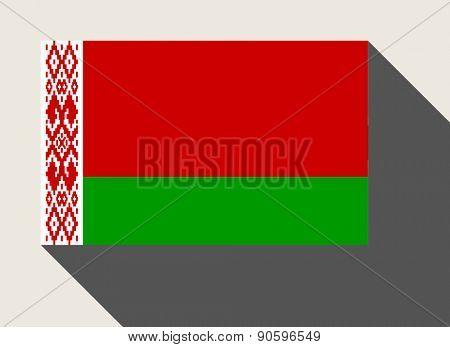 Belarus flag in flat web design style.
