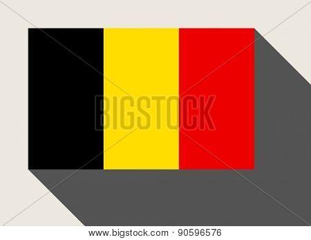 Belgium flag in flat web design style.