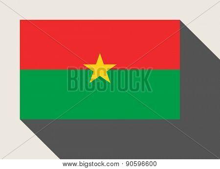 Burkino Faso flag in flat web design style.