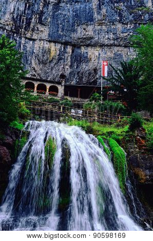 Saint Beatus Caves on Lake Thun (Switzerland)