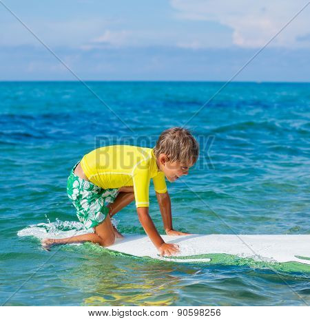 Boy with surf
