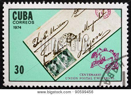 Postage Stamp Cuba 1974 Letter