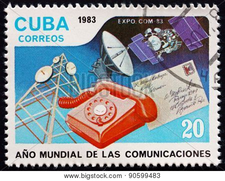 Postage Stamp Cuba 1983 World Communications Year