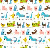 pic of baby goose  - Countryside amusing baby animals pattern for children - JPG