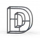 stock photo of letter d  - 3D alphabet - JPG