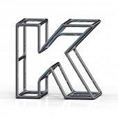 stock photo of letter k  - 3D alphabet - JPG