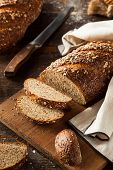 foto of whole-wheat  - Organic Homemade Whole Wheat Bread Ready to Eat - JPG