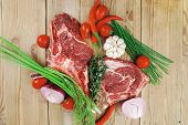 pic of red meat  - fresh raw meat  - JPG