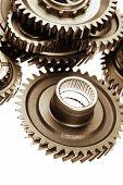 image of bonding  - Metal cog wheels bonding together - JPG