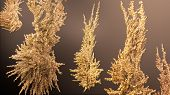picture of gold nugget  - giant gold nugget on black background isolated - JPG