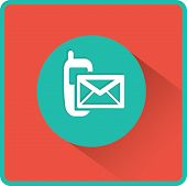 stock photo of sms  - Flat Vector SMS Icon - JPG