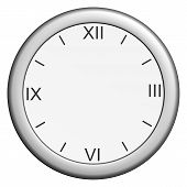 image of arabic numerals  - Round clock without hands on isolated white background - JPG