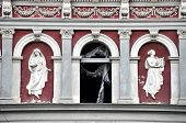 picture of building relief  - Abandoned urban building in damage - JPG
