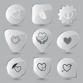 foto of glass heart  - Heart shape set - JPG