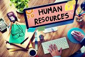 pic of recruiting  - Human Resources Employment Job Recruitment Profession Concept - JPG