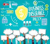 picture of policy  - Business Insurance Policy Guard Safety Security Concept - JPG