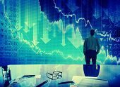 image of stock market crash  - Businessman Stock Market Crisis Crash Finance Concept - JPG