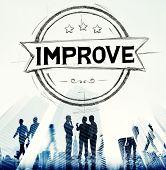 image of motivation talk  - Improve Innovation Motivation Progress Reform Concept - JPG