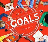 stock photo of encouraging  - Goal Aspiration Expectation Encourage Dreams Concept - JPG