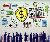 stock photo of insurance-policy  - Business Insurance Policy Guard Safety Security Concept - JPG