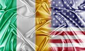 stock photo of ireland  - USA and Ireland - JPG