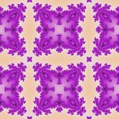 stock photo of mandelbrot  - Fractal purple floral pattern texture or background - JPG