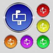 stock photo of mailbox  - Mailbox icon sign - JPG